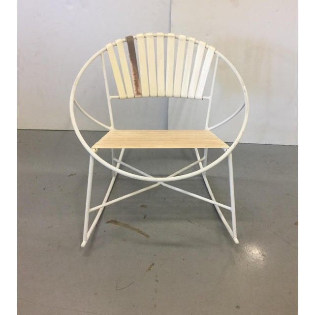 Mid-Century Outdoor Rocking Chair - Image 3 of 8