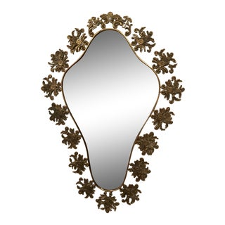 Vintage Hollywood Regency Style Wall Mirror For Sale