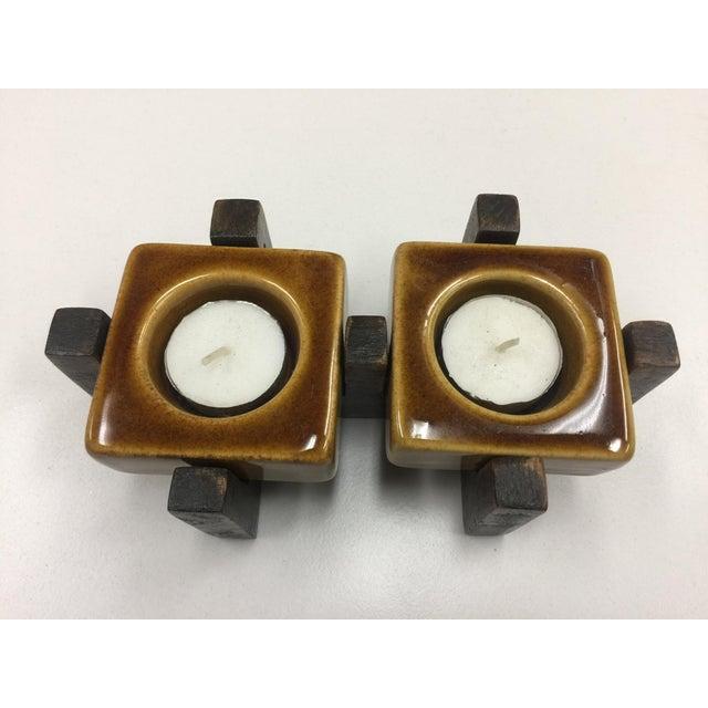 Blakeney Ceramic Gold Candleholder - Image 2 of 4
