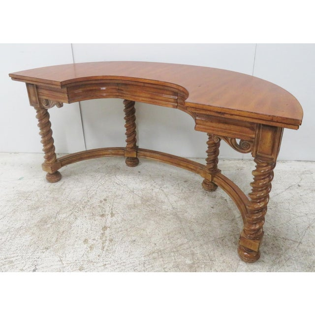 Italian Style Faux Painted Demilune Desk For Sale - Image 10 of 10