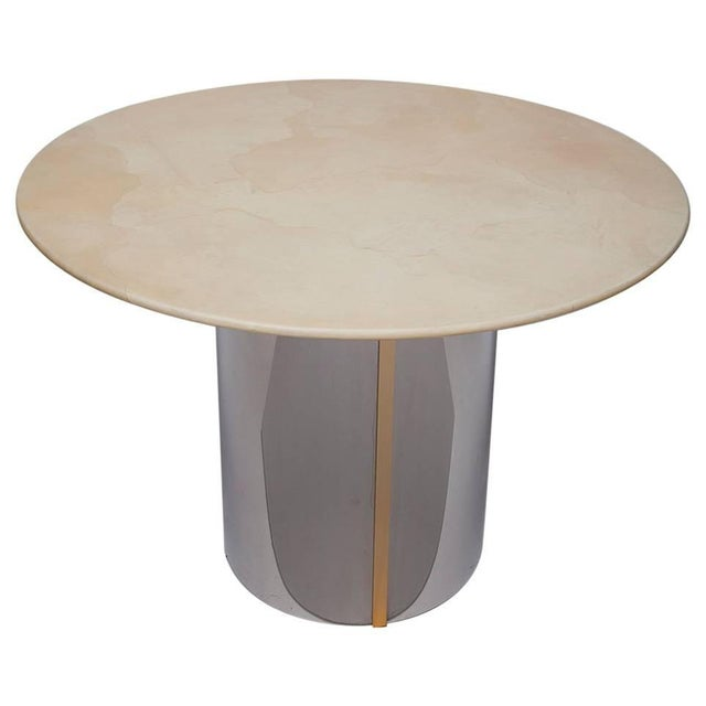 1970's Parchment Center Table For Sale - Image 10 of 10