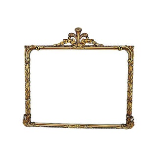 Fancy Large 1930s Gold Gilt Ornate Floral Mirror For Sale