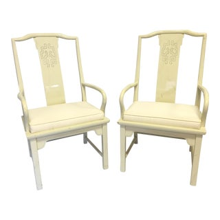 Century Furniture Chin Hua Asian Chinoiserie Dining Chairs - A Pair