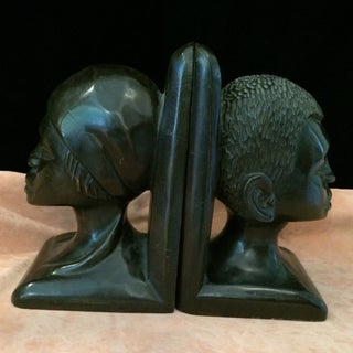 20th Century African Carved Ebony Bookends - a Pair Preview