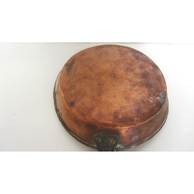Antique French Copper Skillet - Image 6 of 9