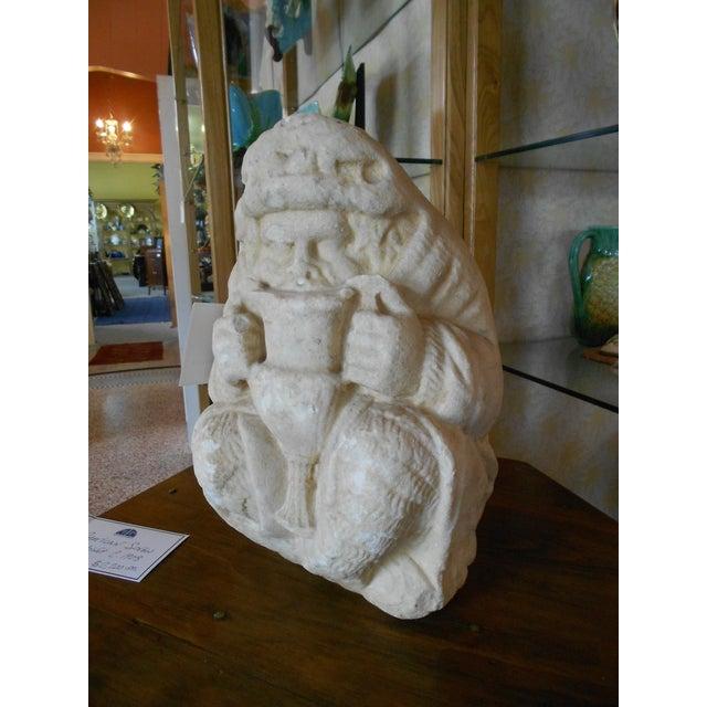 Ancient Greek Satyr Silenus Marble Sculpture - Image 3 of 5