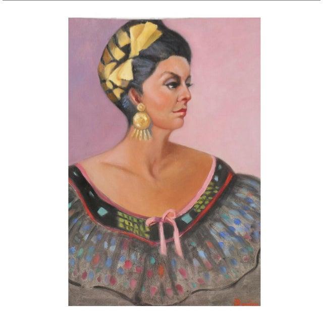 Original Portrait of a Woman Vintage Dress - Image 9 of 9