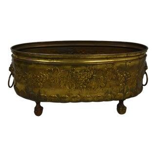 Brass Planter or Log Bin For Sale
