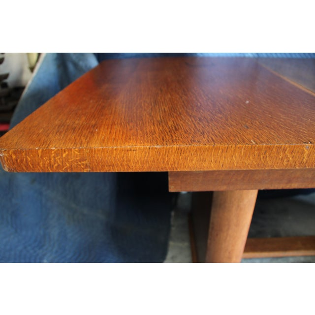 John Widdicomb Art Deco Extension Dining Table For Sale - Image 4 of 8