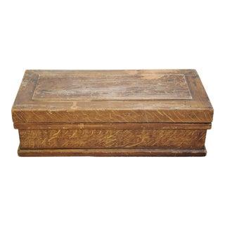 Antique Hand-Painted Wood Grain Keepsake Box For Sale