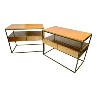 Modern 2 Drawer Nightstands With Shelf by Artistica - a Pair For Sale