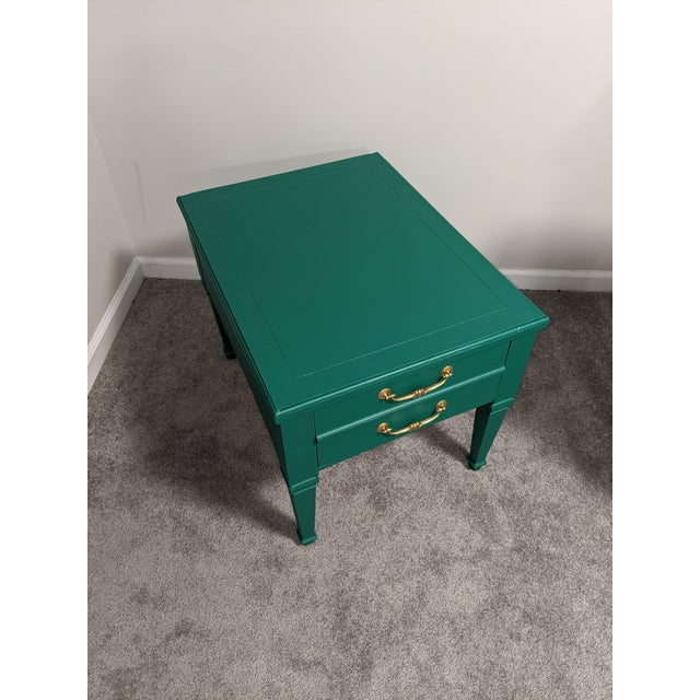 Wood Mid Century Lane Coffee Table/Night Stand For Sale - Image 7 of 11