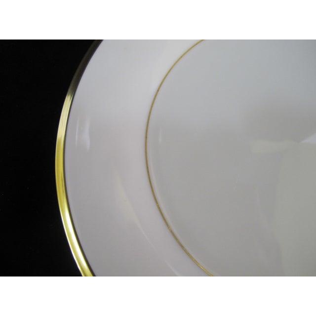 Traditional Lenox Ecru China Gold Rim Eternal Salad Plates - Set of 6 For Sale - Image 3 of 6