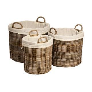 Kubu Woven Round Baskets - Set of 3