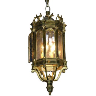 19th Century French Antique Neoclassical Cast Bronze Lantern C. 1860 For Sale