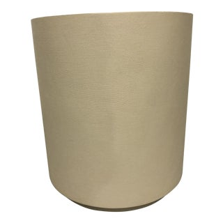 """Made Goods """"Leonia"""" Ivory Accent Table / Stool For Sale"""