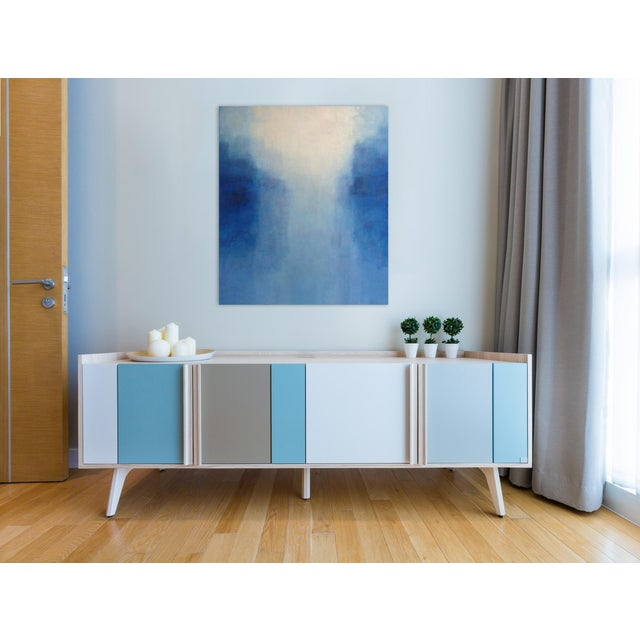 """Abstract Janise Yntema """"Daybreak"""", Painting For Sale - Image 3 of 4"""