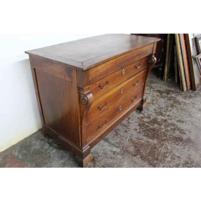 French Provincial 19th Century French Three Drawer Commode For Sale - Image 3 of 12