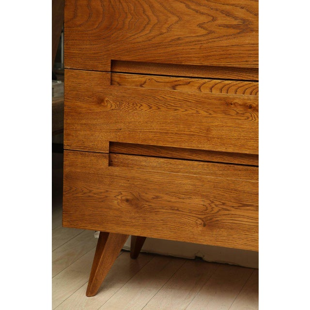 Italian Italian Mid-Century Modern Oak Commode With Six Drawers For Sale - Image 3 of 6