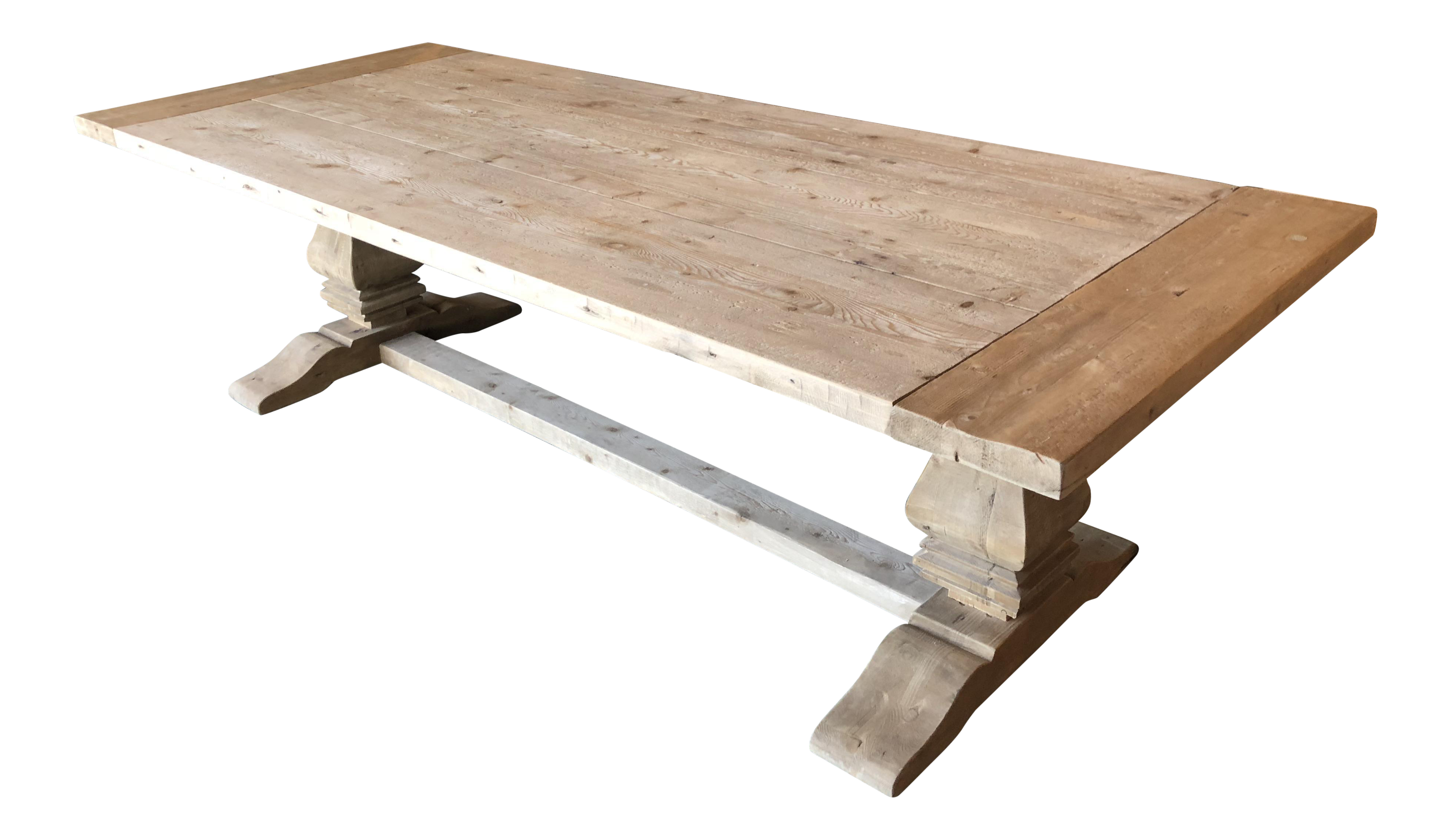 Charmant Restoration Hardware Salvaged Trestle Extension Table