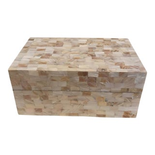 Contemporary Mother of Pearl Mosaic Box For Sale