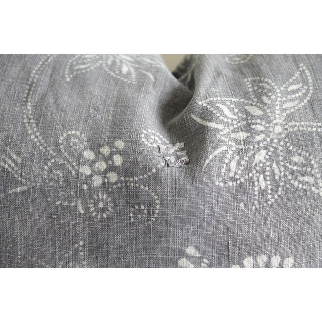Vintage Tribal Gray and Natural Textile Pillow SKU Number: 5292-0141B Description: This beautiful pillow features a...