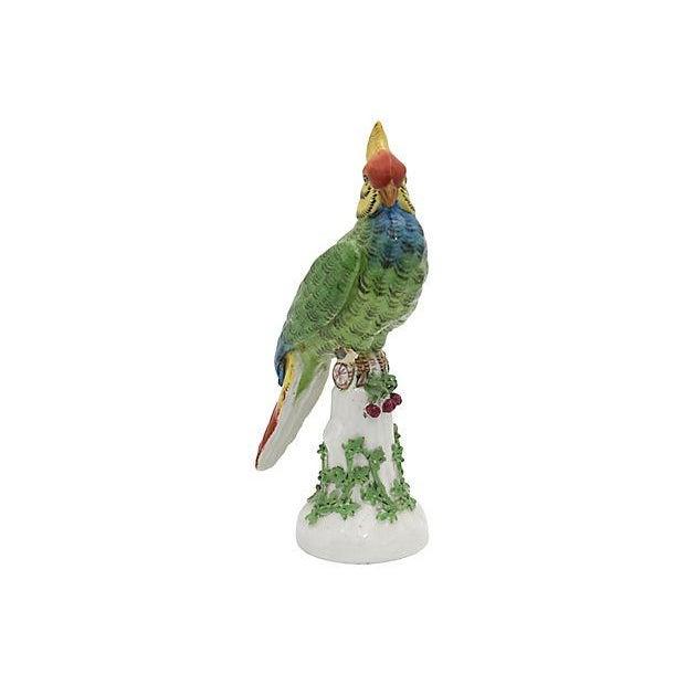 Ceramic 19th Century Antique French Paris Porcelain Parrot For Sale - Image 7 of 7