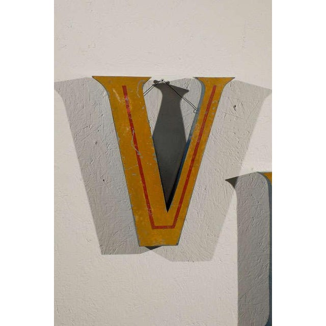 Mid 20th Century Vintage Belgian Tole Free Mounted Shop Sign For Sale - Image 5 of 11