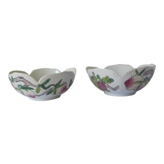 Chinoiserie Bowls With Fruit- 2 Pieces For Sale