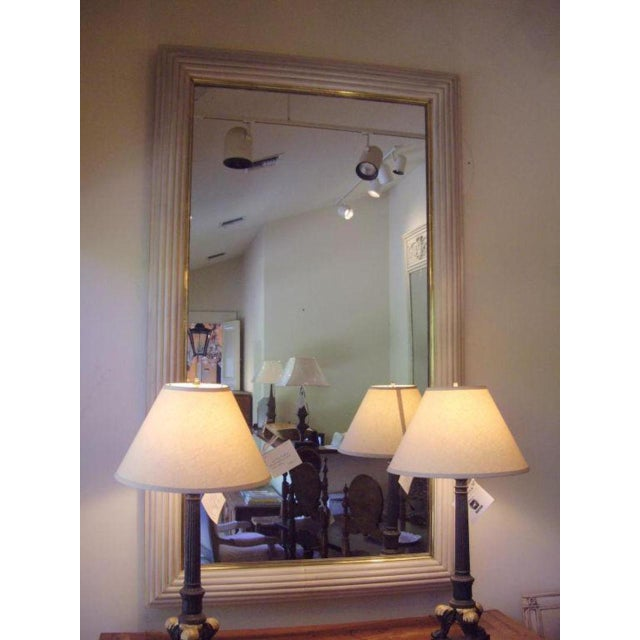 Metal French Art Deco Moderne Mirror For Sale - Image 7 of 10