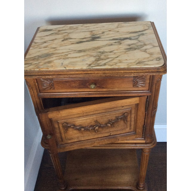 Antique Louis XV Style Nightstand For Sale - Image 4 of 5