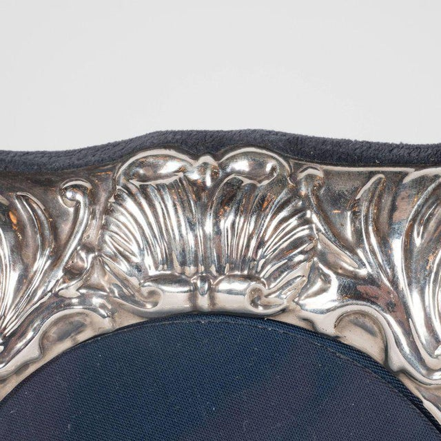 Mid 19th Century 19th Century British Sterling Silver Picture Frame with Repoussé Baroque Designs For Sale - Image 5 of 8