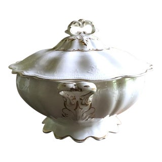 Antique C 1910 e.p.p China Tureen, Signed For Sale