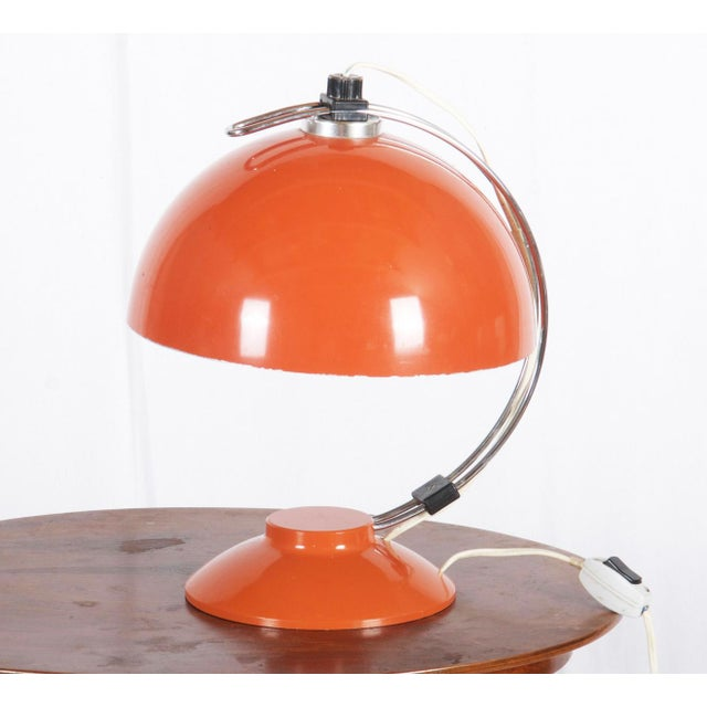Mid-Century Orange Table Lamp, 1970s For Sale - Image 4 of 6