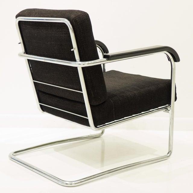 Werner Max Moser Tubular Steel Armchair for Embru Werke - Image 4 of 11