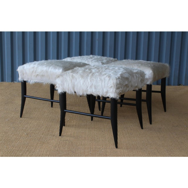 Croft Stool in Cowhide by Hollywood at Home For Sale In Los Angeles - Image 6 of 8