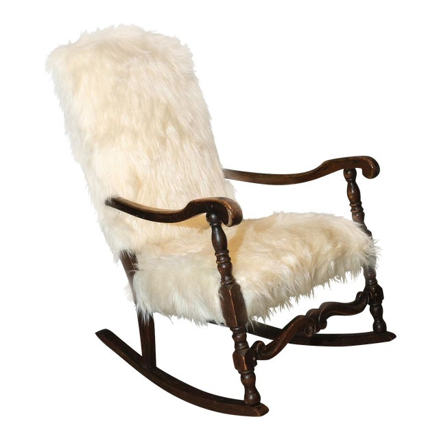 Vintage Traditional Curated French Rocker Chair For Sale