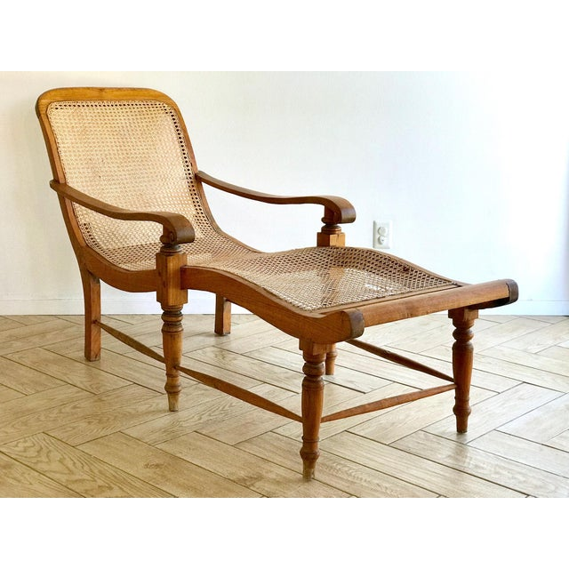West Indies Bauer British Colonial Planter's Chair or Plantation Lounge Chaise Chair A planter's chaise lounge made of...