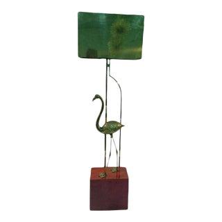 Curtis Jere Brass Flamingo Sculptural Floor Lamp For Sale