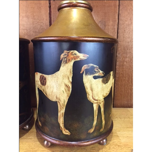 Vintage Whippet Dog Table Lamps - Pair - Image 9 of 11