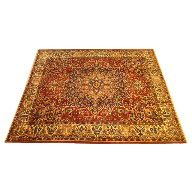 """Persian Red Bakhtiar Rug - 10'2"""" x 12'7"""" For Sale"""