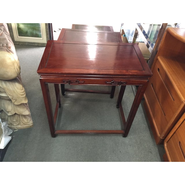 Set of Rosewood Nesting Tables For Sale - Image 9 of 13