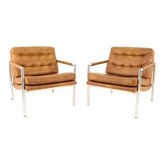 Jack Cartwright for Founders Mid Century Lounge Chairs - Pair For Sale
