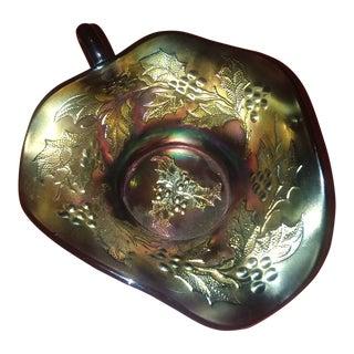 Dugan Tri Colored Carnival Glass Bowl For Sale