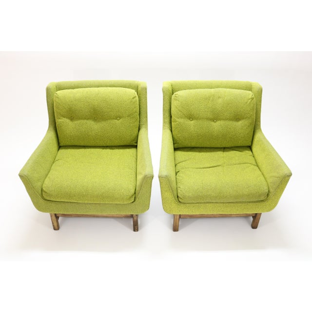 Danish Modern Danish Selig Vista Lounge Chairs Attributed to Dan Johnson - a Pair For Sale - Image 3 of 13