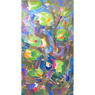 """""""Water Lilies 3"""" by Trixie Pitts Large Abstract Expressionist Oil Painting For Sale"""