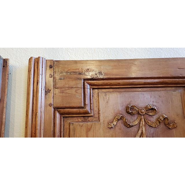 Mid 19th Century Mid 19th Century French Pine Carved Door Panels C.1870 For Sale - Image 5 of 11