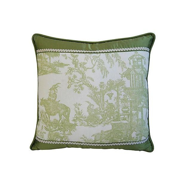 Designer Chris Stone Chinoiserie Pillows - Pair - Image 8 of 8