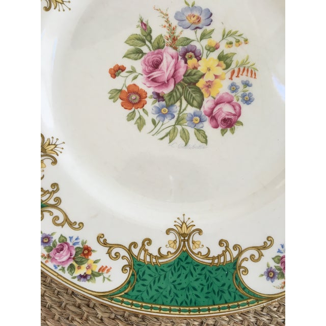 Early 20th Century Made in England-Early 20th Century Antique Myott Royal Crown Staffordshire China Plates - Set of 6 For Sale - Image 5 of 13
