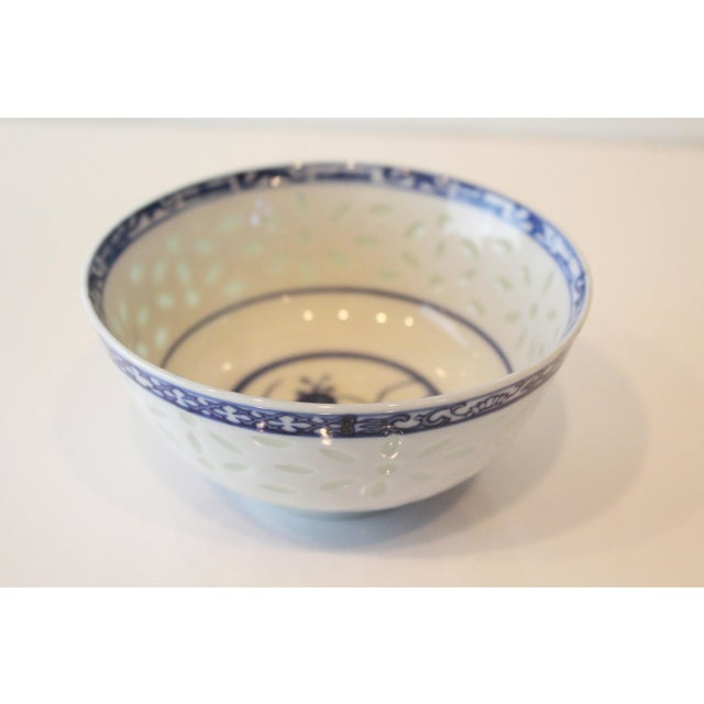 Asian Vintage Blue Chinese Bowl For Sale - Image 3 of 6